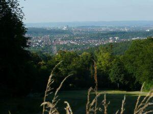 Blick vom Schloss Solitude Richtung Weilimdorf
